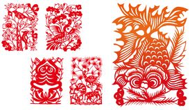Paper-cut set six Stock Images