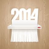 Paper 2014 is Cut into Shredder Stock Images