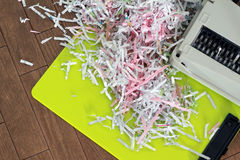 Paper that is cut by shredder Royalty Free Stock Images
