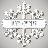 Snowflake frame and New Year greetings stock illustration