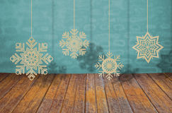 Paper cut of snowflakes Stock Photos