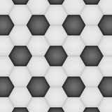 Paper cut of soccer, football texture is black and white hexagon Royalty Free Stock Photos