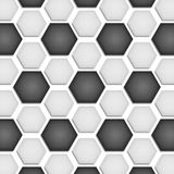 Paper cut of soccer, football texture is black and white hexagon Royalty Free Stock Photography