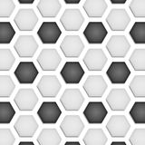 Paper cut of soccer, football texture is black and white hexagon Stock Photo