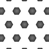 Paper cut of soccer, football texture is black and white hexagon Royalty Free Stock Images