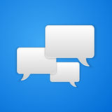 Paper Cut Speech Bubble Background Royalty Free Stock Photo