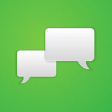 Paper Cut Speech Bubble Background Stock Photo