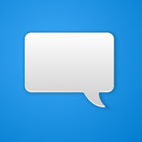 Paper Cut Speech Bubble Background Stock Photography
