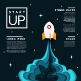 Startup infographic poster template vector illustration