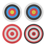 Paper cut of target icon for gun shooting sport and military on Royalty Free Stock Photography