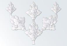 Paper cut thai design elements Royalty Free Stock Photo