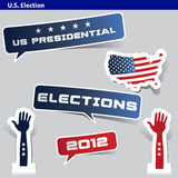Paper cut US presidential 2012 election Stock Images