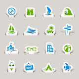 Paper Cut - Vacation Icons Royalty Free Stock Photography