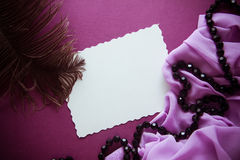 Paper cut on vintage background Stock Image