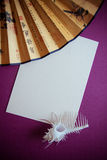 Paper cut on vintage background Royalty Free Stock Image
