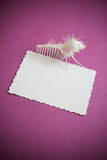 Paper cut on vintage background Stock Photography