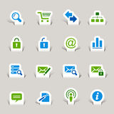 Paper Cut - Website and Internet Icons Stock Image