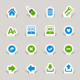 Paper Cut - Website and Internet Icons Stock Photo
