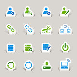 Paper Cut - Website and Internet Icons Royalty Free Stock Image