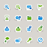Paper Cut - Website and Internet Icons Royalty Free Stock Photos