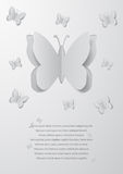 Paper cutout butterflies Royalty Free Stock Photos