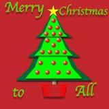 Paper Cutout Christmas Tree Stock Photos