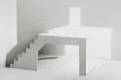 Paper cutout elements of building Royalty Free Stock Image