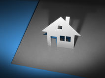 Paper cutout house Royalty Free Stock Photos
