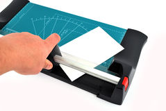 Paper cutter Royalty Free Stock Images