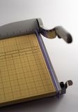 Paper Cutter. A standard office paper cutter stock photography