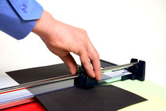 Paper cutter Royalty Free Stock Photo