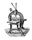 Paper cutter for press, vintage engraving Royalty Free Stock Photography