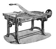 Paper cutter for press, vintage engraving Royalty Free Stock Photos