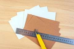Paper cutter ruler Royalty Free Stock Image