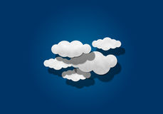 Paper Cutting,  Cloudy sky Royalty Free Stock Photos