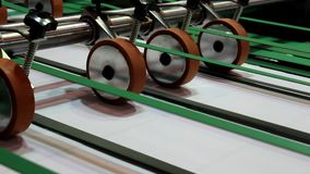 Paper cutting machine stock footage
