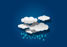 Paper Cutting,  Rainy  and Cloud Stock Photography