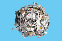 Paper cutting sphere royalty free stock photography
