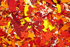 Paper cuttings background yellow red Stock Images