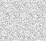Paper 3D OM seamless pattern Royalty Free Stock Photography