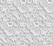 Paper 3D OM seamless pattern Royalty Free Stock Image