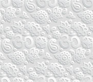 Paper 3D OM seamless pattern Royalty Free Stock Photos