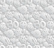 Paper 3D OM seamless pattern Stock Images