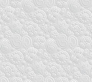 Paper 3D OM seamless pattern Stock Photos