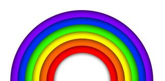 Paper 3D rainbow Royalty Free Stock Photography