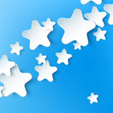 Paper 3d star. Vector background Stock Photo