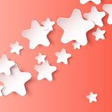 Paper 3d star. Vector eps10 background. 3d paper star. Vector eps 10 background Royalty Free Illustration