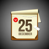 Paper december calender design Royalty Free Stock Photo