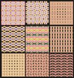 Set of seamless laced patterns Royalty Free Stock Photos