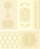 Set of decorative floral frame Royalty Free Stock Photos